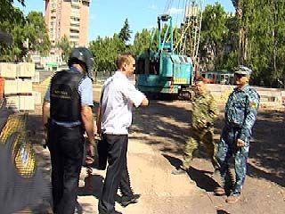 Строительство в сквере Левобережного района приостановлено