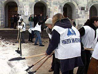 """Студенты педуниверситета поддержали акцию """"Чистый город"""""""