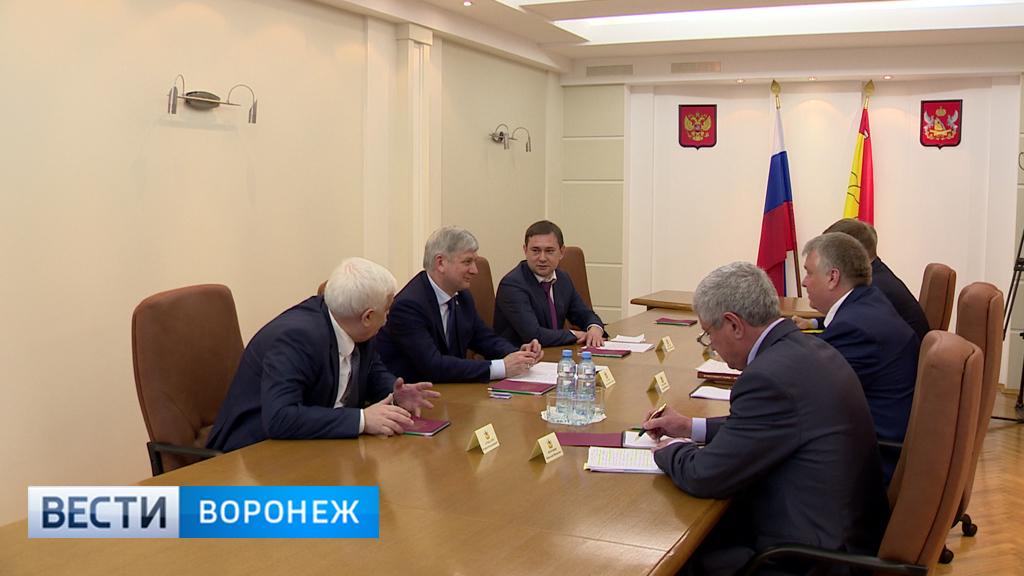 Александр Гусев встретился с депутатскими фракциями Воронежской облдумы