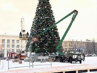 Такой ёлки в Воронеже ещё не было