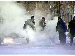 Теплотрасса в Коминтерновском районе не выдержала сильного мороза