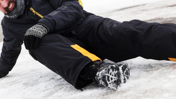 За неделю около тысячи жителей Воронежской области получили травмы из-за гололёда