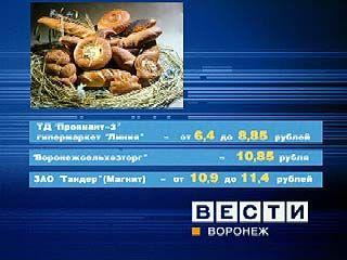 Цены на хлеб в Воронежской области под усиленным контролем