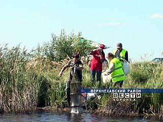 """Турнир четырёх ветвей власти"" прошел на пруду возле посёлка Правая Хава"