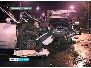 У Чернавской дамбы произошла авария с участием трёх машин