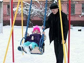 У Воронежского тубдиспансера появилась детская площадка