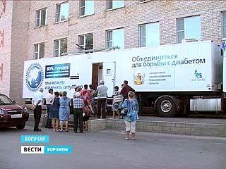 У жителей Воронежской области проверяют здоровье прямо на улицах