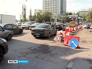 Улица Ленина от Северного моста до проспекта Революции была парализована