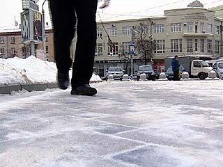 Улицы Воронежа из-за ледяного дождя стали зоной повышенной опасности