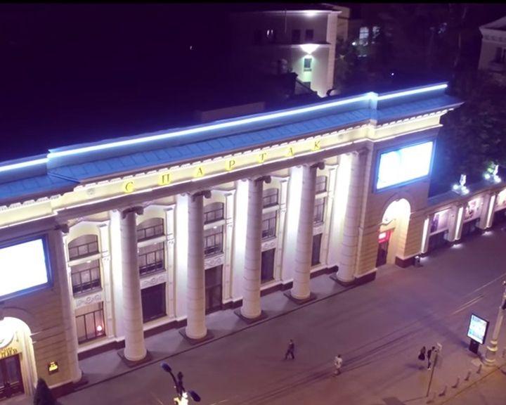 Уникальная съёмка ночного Воронежа с высоты птичьего полёта