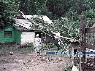 Ураган прошелся по югу области
