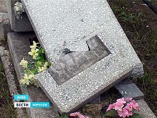 В Анне малолетние вандалы разгромили местное кладбище