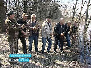 В Бобровском районе охотхозяйство закупило уток и выпустило в дикую природу