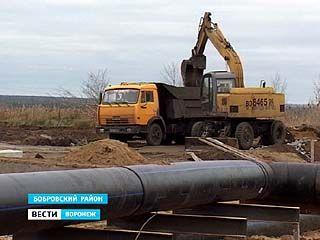 В Бобровском районе строят новые очистные сооружения