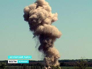В Богучарском районе уничтожили большую партию боеприпасов времен ВОВ