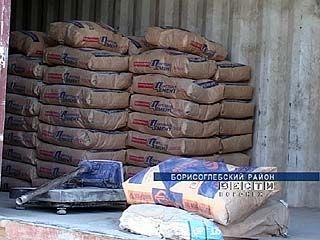 В Борисоглебске дешевый цемент фасовали в мешки известной торговой марки