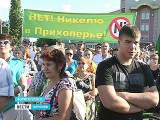 В Борисоглебске прошел митинг против разработок никеля в Новохоперском районе