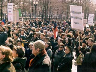 В Борисоглебске прошел очередной стихийный митинг