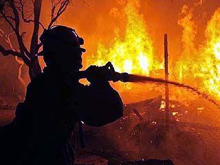 В частном секторе Новой Усмани вспыхнул большой пожар