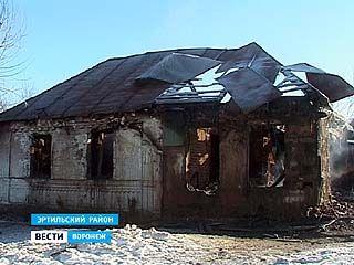 В Эртильском районе морозы стали причиной трёх серьезных пожаров