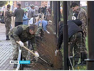 В эти выходные в Воронеже прошел общегородской субботник