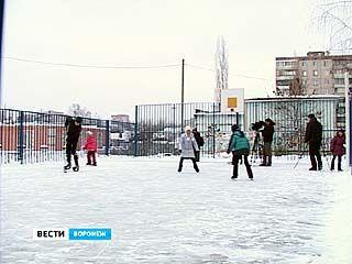 В этом году в Воронеже залито более 130 катков во дворах школ и домов