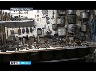 В гараже одного из воронежцев обнаружен целый арсенал боеприпасов