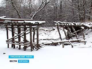 В Грибановском районе местный житель разобрал мост через реку