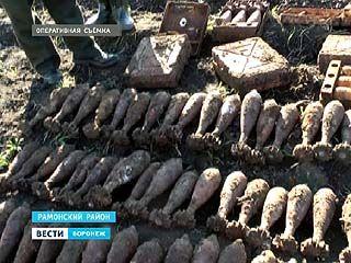 В ходе оперативных мероприятий в Рамонском районе нашли схрон боеприпасов времён ВОВ