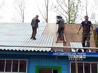 В Кантемировском районе продолжают устранять последствия после града