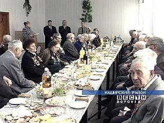 В Каширском районе поздравили ветеранов