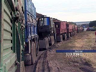 В Лисках из-за сахарной свёклы случился транспортный коллапс