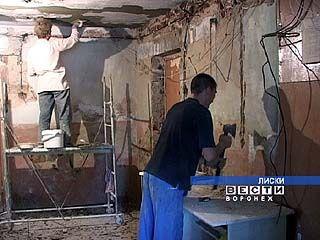 В Лисках полным ходом идет ремонт жилищного фонда