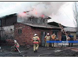 В Лисках сгорела котельная