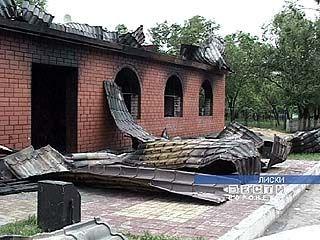 В Лисках сгорело кафе
