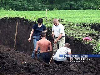 В Лискинском районе начались раскопки на двух курганах