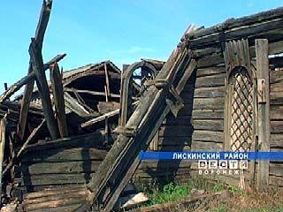 В Лискинском районе обрушился старинный храм