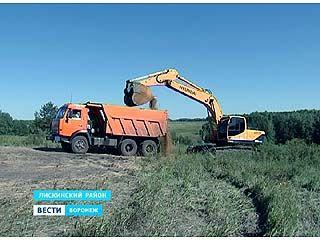 В Лискинском районе продолжают незаконно добывать песок
