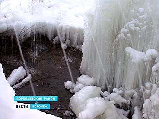 В Ломовском природно-ландшафтном заповеднике образовались ледяные фонтаны