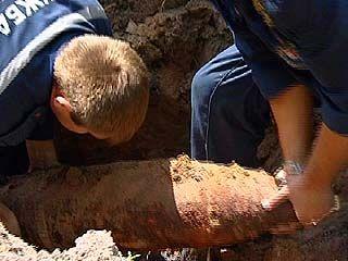 В Масловке обнаружен артиллерийский снаряд