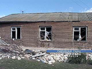 В многоквартирном доме на окраине Павловска прогремел взрыв