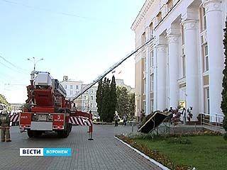 В Никитинской библиотеке прошли пожарно-тактические учения