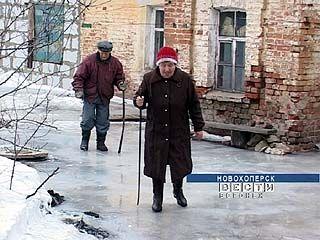 В Новохоперске из-за прорыва трубы в котельной образовался каток