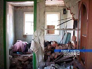 В Новой Усмани произошло обрушение дома