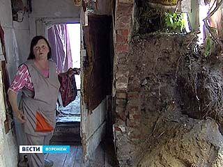 """В одном из частных домов на """"Базарной горе"""" обрушилась кирпичная стена"""