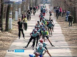 """В """"Олимпике"""" вновь соревновались лыжероллеры"""