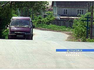 В Острогожске отремонтировали дорогу к к Храму Вознесения