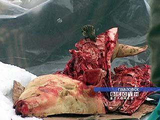 В Павловске мясом торгуют на улице