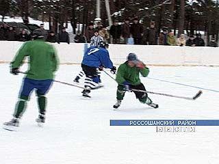 В Поповке состоялся товарищеский хоккейный матч