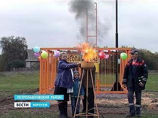 В последнее село Петропавловского района провели голубое топливо